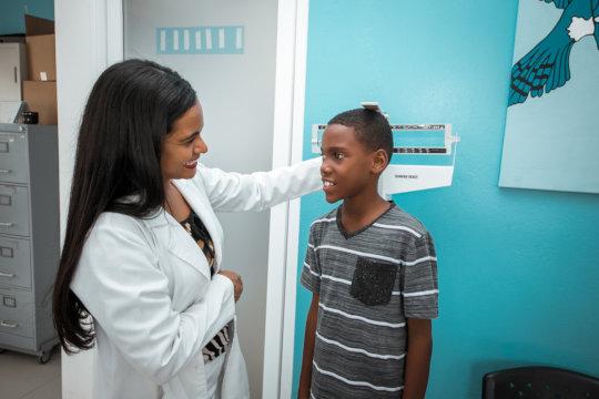 Consultation at pediatric center