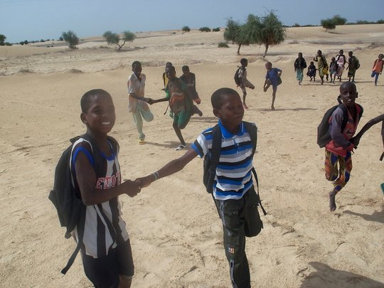 Tourari Students playing