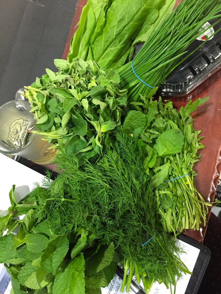 Fresh herbs from Gaza - lets send backpacks!
