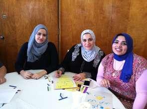 Volunteers writing letters of encouragement