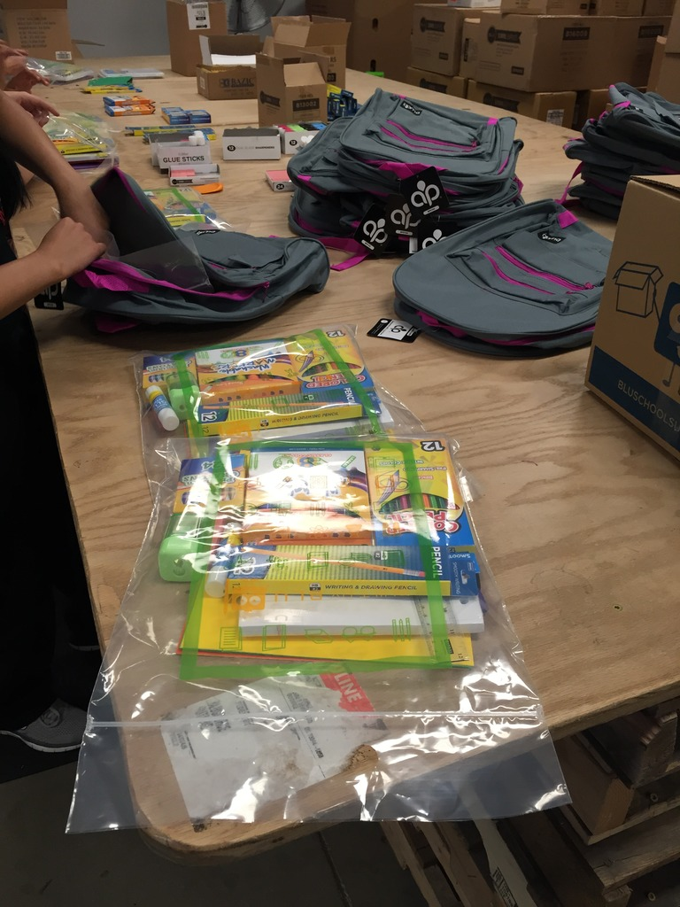 Brand new school supplies for children in Gaza