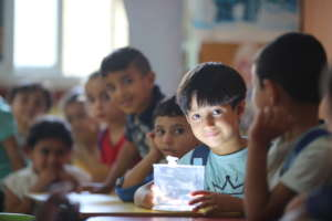 Boy and Classmates with Light