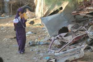 Child in Rafah, Gaza