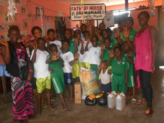 Latest disbursement in the orphanage