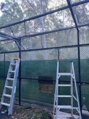 Installation of new netting