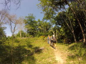 On the trails on Koh Ra