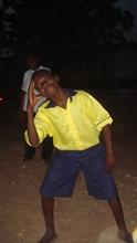Kwadzo Tawia having fun at the rehabilitation center during a Fe