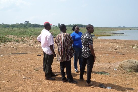Assessing the lakeside with local partners