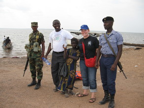 Nadu, with Eric Peasah and the team that helped to rescue her