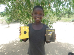 A child with his solar lamp