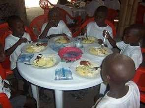 Kids eating a good meal