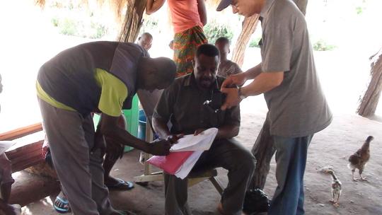 Fisherman signs paperwork to release Samuel