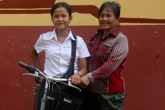 A new bicycle for Sreylek and her family