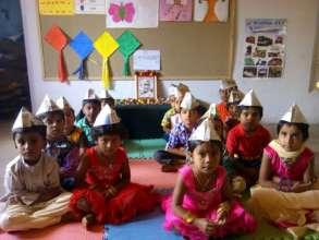 With Nehru Caps on Children's Day