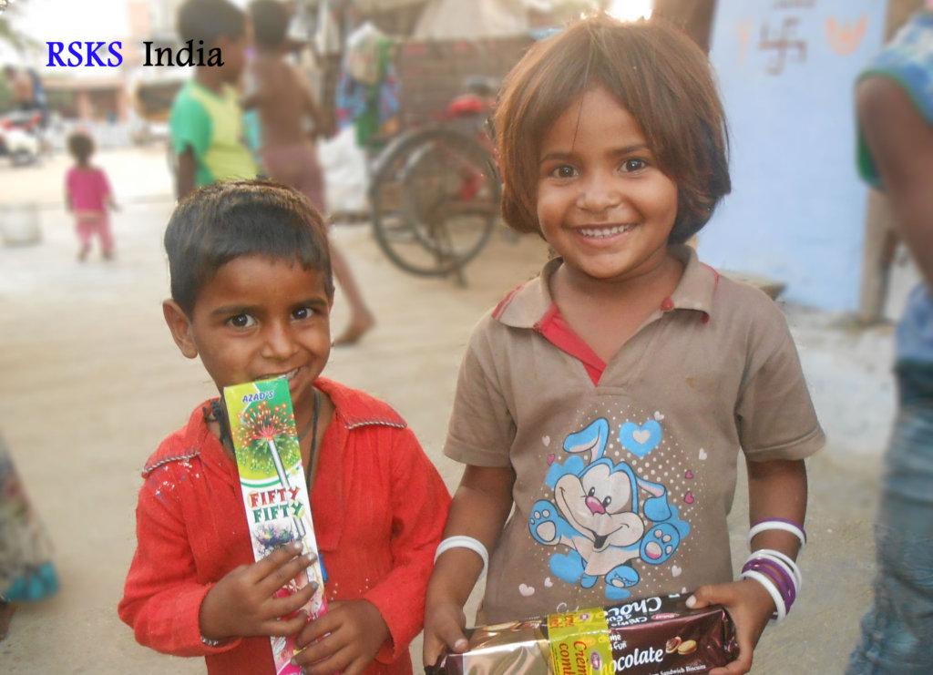 celebrated Diwali with these Slum children