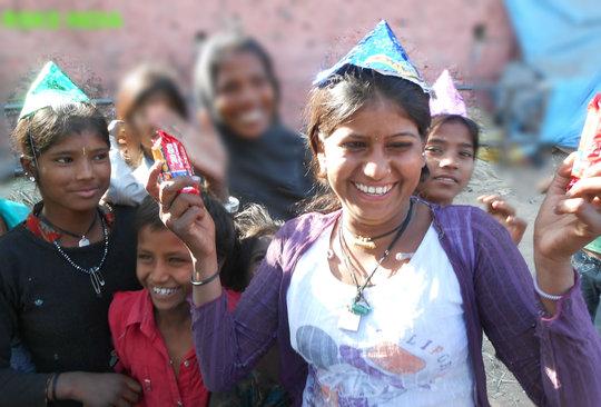 Joy of Giving To Street Children