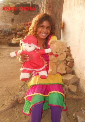 Anju, a street child of 9 years