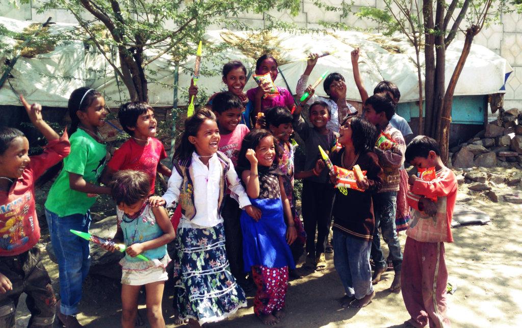 Holi Celebration with Street & Slum Kids