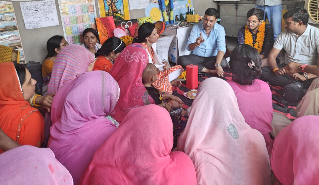 Interaction with Women Students in Udan School