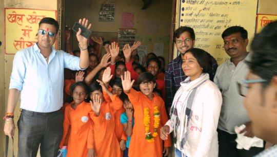 Fun with the Pathshala School Child