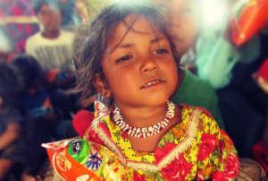 Gift & food for street & Slum children