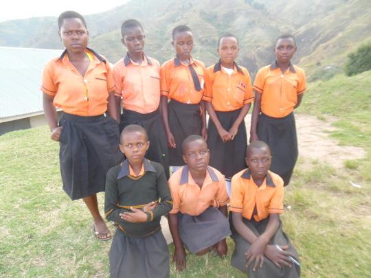 Girls from Kibyo Primary School