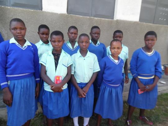 Girls from Mahyoro Primary School