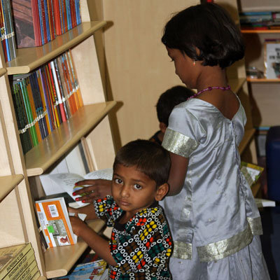 Provide library books for orphans in India
