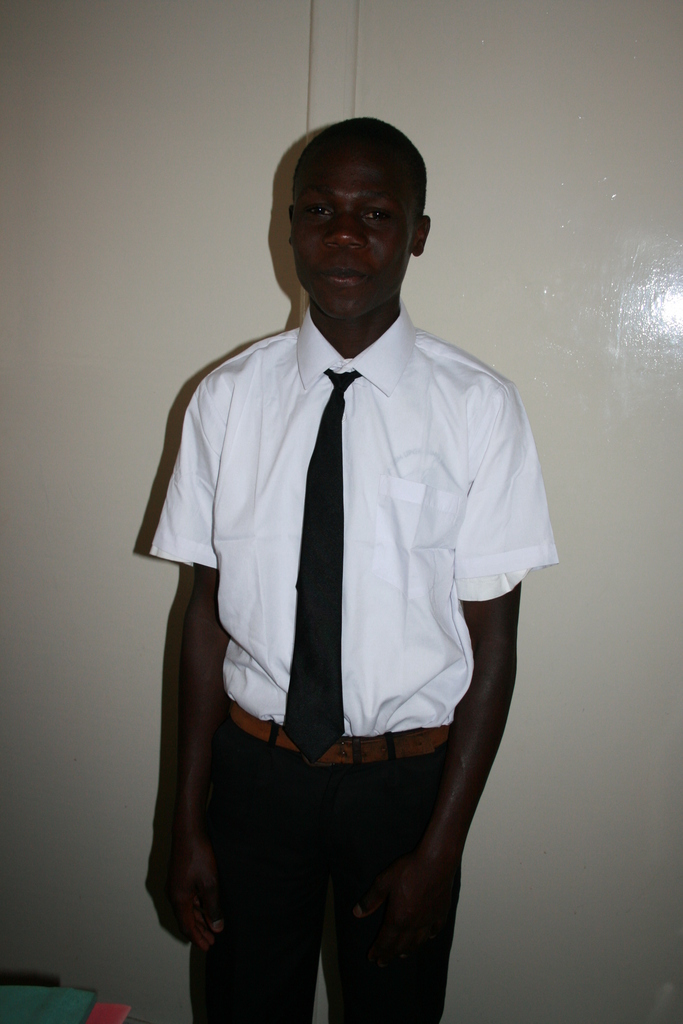 Bwire in his new uniform