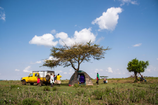 A CHAT Mobile clinic set up in rural areas