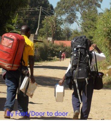 Back Pack/Door to door Strategy