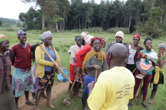 CHAT CORP sensitizing a group of women after work