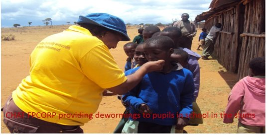 CHAT FPCORP providing demorming tablets to pupils