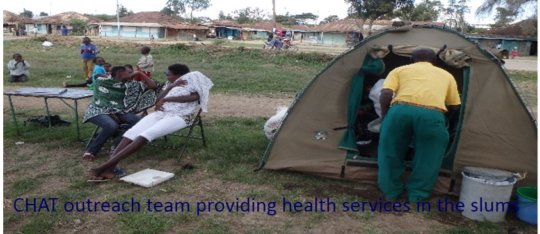 CHAT outreach team providing health services-slums