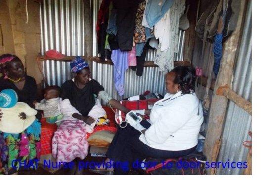 CHAT nurse providing FP services via door to door