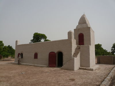 The completed mosque in Mamarila-Sanogola