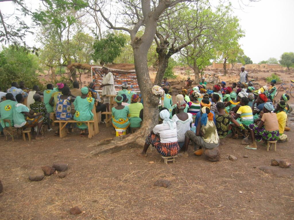 Awareness raising campaign, Dano, Burkina Faso