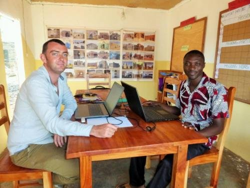 Benoit & Narcisse in AVN office in Benin