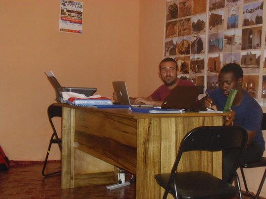 Giulio & Cabral in the AVN office in Ghana