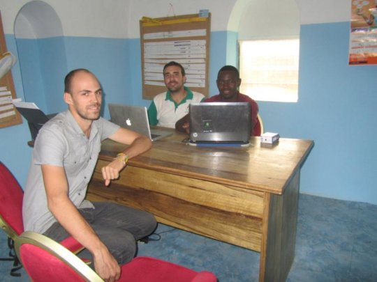 The AVN-Ghana team in their new office