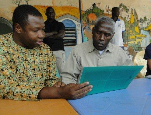 Boubacar Ouily (AVN) & Ambassador Mushingi