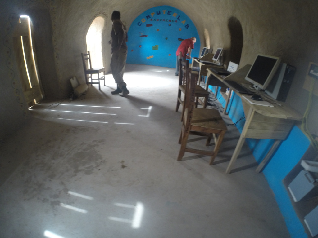 Computer lab in the eco-village
