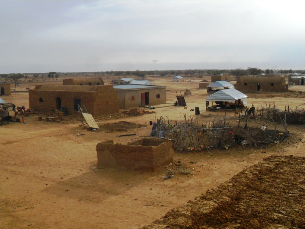 View of the refugee village