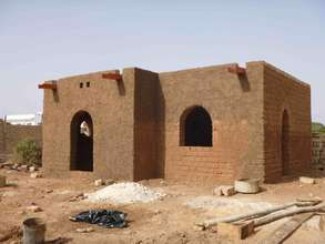 2 vault house in construction, Thies