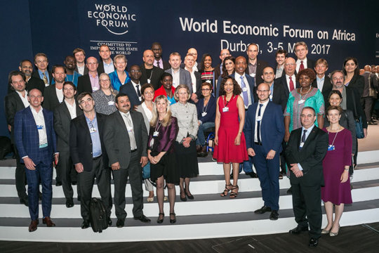 Granier and participants at WEF, Durban
