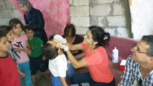 Contributing to the polio vaccination campaign