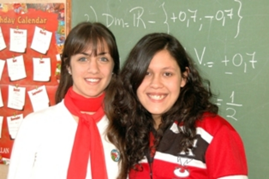 Carolina and Karen, 2008 VISIONAR scholars, Argentina