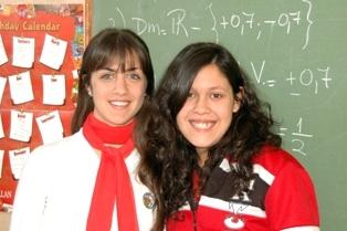 Carolina and Karen, 2008 VISIONAR scholars, Argentina