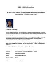 2009 VISIONAR scholars (PDF)