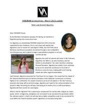 VISIONAR Scholarships, Agustina (March 2015) (PDF)